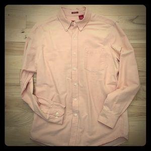 Men's Izod slim fit apricot button down shirt M